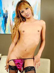Blond ladyboy with delicious foreskin